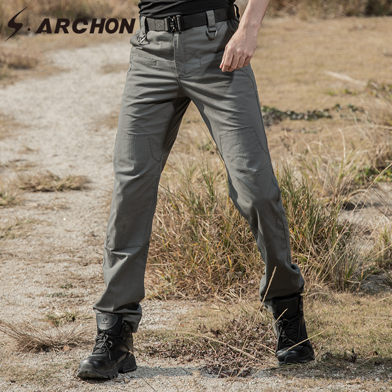 S.ARCHON Military Tactical Pants Men Army Combat Cargo Pants High Quality Waterproof Breathable Stretch Flexible Work Trousers
