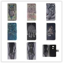 Flip PU Leather Case For Huawei Honor 5X P8 Lite P9 P9 Lite Stand Wallet Case Owl Tiger Lion Pattern Cover with Card Holder