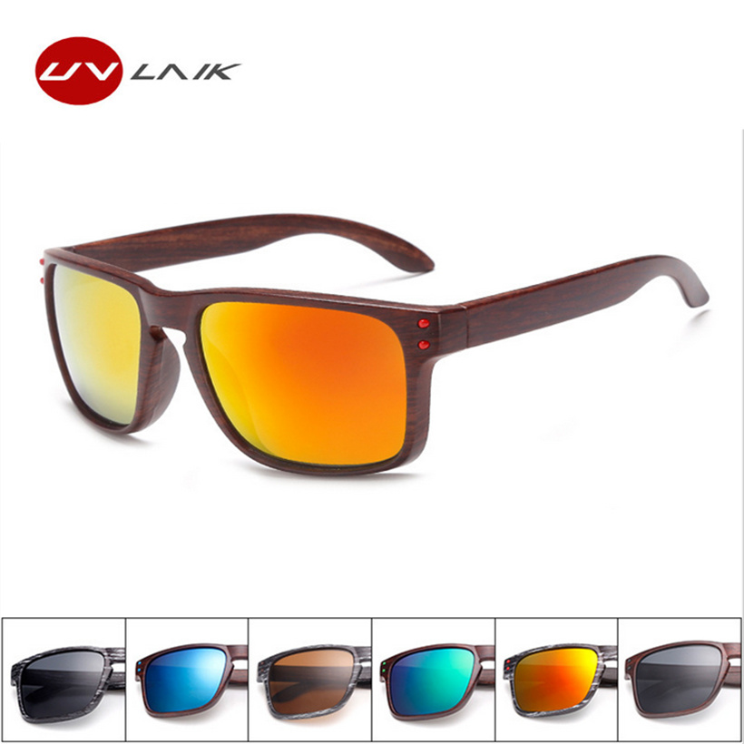 New Mens Wood Grain Sunglasses Men Vintage Eyewear Rivets Coating Glasses Black Brown Frames Male Female Square Sun Glasses(China (Mainland))