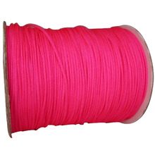 1mm Dk Neon Pink Rattail Braid Nylon Cord+Jewelry Accessories Thread Macrame Rope Shamballa Bracelet Beading Cords 350m/Roll(China)