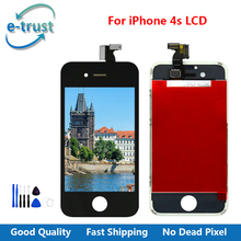 e-trust AAA Quality LCD For iPhone 4S Screen Replacement Parts Touch and Digitizer Assembly Black/White For iPhone 4S LCD Screen