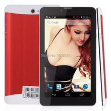 7'' Dual Core 3G Smartphone Dual Sim GPS Cell Phone Android 4.2 Bluetooth HD Red Celular Android Phone(China)
