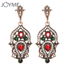 Vintage Bohemian Turkish Jewelry Ear Cuff Drop Earring Gold Long Earing Large Wedding Fashion Earrings For Women Brincos Gift(China)