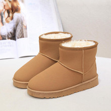 2017 Hot Sale Winter Scrub Short Shoes Women Flat Lace Up Fur Lined Winter Martin Boots ladies Snow Ankle Boots Shoes 36-40 Size
