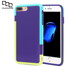 Mundulea Thicken Hybrid Impact 3 Color Shockproof Rugged for iphone 7 Case Anti-slip Cover for iphone 7 Plus Card holder Slots(China)