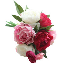 Decorative Artificial Fake Flowers Peony Bouquet Floral Wedding Bouquet Party Home Decor u70217