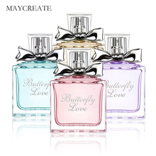MayCreate Women Perfume Fresh Elegant Lasting Flower Fragrance Parfum Makeup Female Perfume Women Spray Glass Bottle 50ml(China)