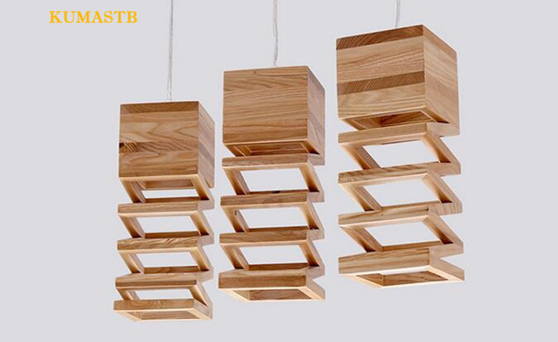 Wood Spring Pendant Lamp 11