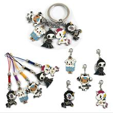 Anime Cute Cartoon tokidoki Metal Alloy zinc Figures Keychain fashion pendants charms phone straps model Cosplay keyring figure(China)