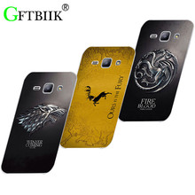 Cute Cartoon Case For Samsung Galaxy J1 2015 J100H JA SM-J100 Hard Plastic Case Fashion Printed Football Cover Game of Thrones 7