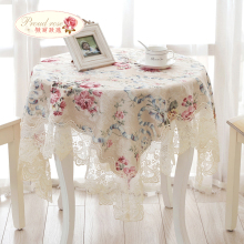 1 Piece Classic Cotton Lace Table Cloth/ Rural Lace Table Runner Tea Table Cloth/ European Decorative Tablecloth Free Shipping