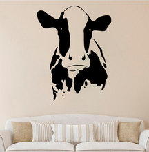 Cute Cow Wall Stickers For Living Room Home Decoration Vinyl Pattern Removable Artistic Sticker kid's room  Wall Decal SYY191