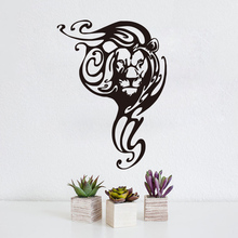 Lion Tribal Wall Sticker For Living Room Vinyl Removable Waterproof Wall Art Mural Decal For Kids Bedroom Decoration Accessories(China)