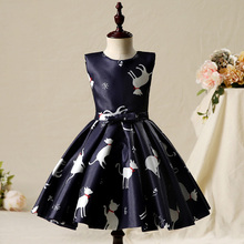 2017 Pussy Cat child kids flower girl dresses ball gown sleeveless toddler baby girl summer dress party dress Birthday 12T 13T(China)