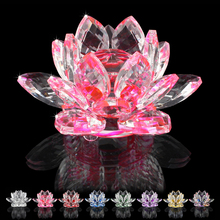 85MM jewelry finding crystal lotus ornaments flower crafts glass K9 furniture accessories party gift wedding decorations