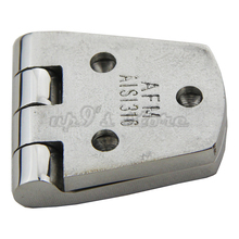 Free Shipping 2pcs 316 Stainless Steel Marine Boat Hardware 3-Hole Cabin Flush Door Strap Butt Hinge