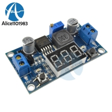 LM2596 Buck Step Down Power Converter Module LED Digital Voltmeter Display Adjustable Board DC-DC 2A Short Circuit Protection(China)