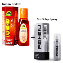 2pcs XXL Big Penis Oil Herbal Penis Enlargement Massage Oil Male Enhancer and Saandhha Peineili Sex Delay Men Spray Man Liquid