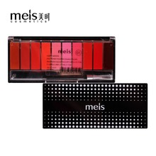 MEIS Brand Lipstick Cosmetics Professional Makeup Lip 10 Color Lipstick Lip gloss Liptint Lip Kit Cheap Cosmetics Free Shipping(China)