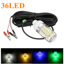 12V 36 LED Light Bulb Underwater Submersible Night Fishing Light Shad Bait Lure Squid Boat Lamp with 5m IP67 Waterproof Lamp(China)