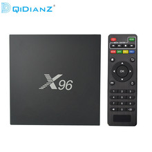 Hot!DQiDianZ X96 Android 6.0 Smart TV BOX S905X Quad Core support 2.4G Wireless WIFI Set top box+IR CABLE(China)