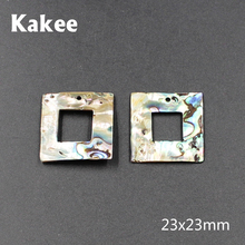 Kakee New Zealand Abalone Square Natural Sea Shell DIY Charms Beads for Jewelry Making Fashion Female Earrings Beading Materials(China)