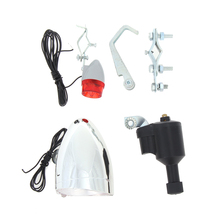 Sport Bike Cycling Dynamo Lights Set Safety No Batteries Needed Headlight Rear Light with Bracket