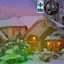 Moving Outdoor Garden Decoration Waterproof IP65 Christmas Laser Spotlight Light Star Projector Showers With Remote Controller(China)
