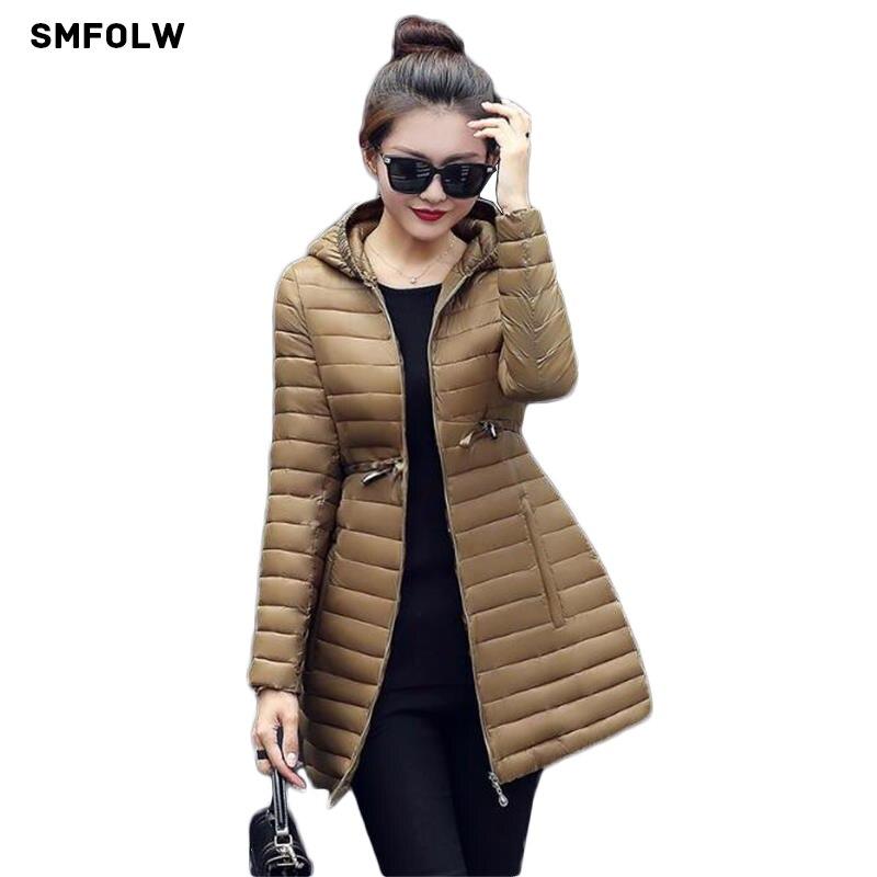 2017 New Female Warm Winter Jacket Women Coat Thin Down Cotton Parka Ultra-light Cotton-padded Jacket Long OutwearÎäåæäà è àêñåññóàðû<br><br>