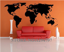 World Map wall stickers for kids rooms removable pvc Art decals cute kid home decor for kids rooms poster mural(China)