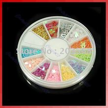 U119 ! 10 sets/lot 12 Colors Glitter Star Paillette Spangles Nail Art Disk(China)