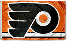Philadelphia Flyers column Flag Polyester 150X90CM NHL 3x5FT Banner 100D Custom flag grommets 6038,free shipping(China)