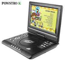9.8 Inch DVD Player LCD Display Portable Rotatable Screen TV Game Player with Gamepad Game Disc for DVD VCD CD MP3 MP4 MP5 DVCD
