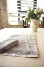 Grey Cotton Small Face Towel Stripe Towel Solid Terry Fabric
