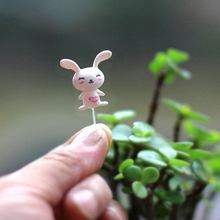100pcs/pack mini fixed pin fairy garden miniatures gnomes moss terrariums resin craft figurines for home decoration accessories