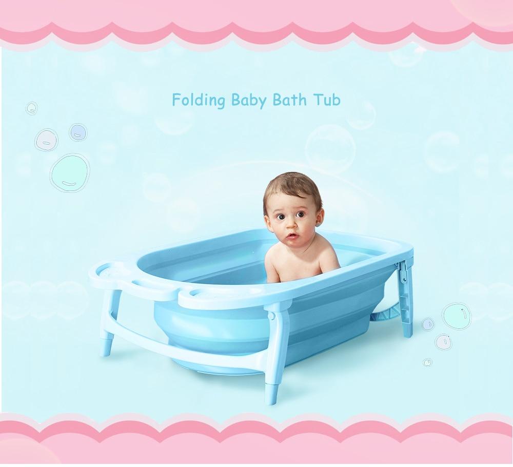 2018 Portable Folding Baby Bath Tub Large Size Anti Slip Bottom Non ...
