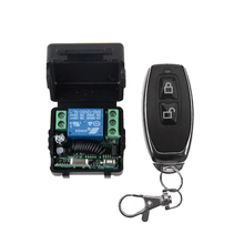 Smart Home DC 12V 10A 1CH Wireless RF Radio Light Switch Remote Control Transmitter Receiver 315MHZ 433.92MHZ(China)