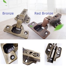 4Pcs/Lot Antique Vintage Conceal Soft Close Hinge Hydraulic With Screws(China)