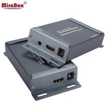 MiraBox TCP IP HDMI Ethernet Extender 120m over Cat5 to UTP STP Rj45 Network HDMI Transmitter and Receiver via Cat5e/Cat6 LAN