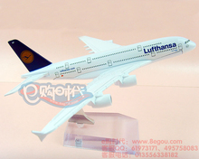 Free Shipping 16cm Metal airlines plane model Lufthansa German Airlines 737-800 aircraft model airplane model  for children toys