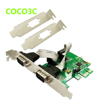 MOSCHIP MCS9922 PCI express 2 ports Serial card PCI-e card RS-232 DB9 COM port adapter for POS Terminal & Industrial PC(China)