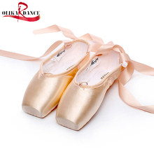Dance Practice Ballet Shoes Satin Ribbon Pointes Pointe Shoes Light Pink