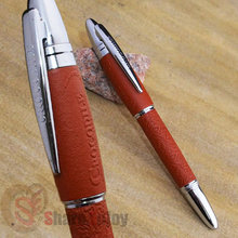 EXECUTIVE CROCODILE 169 NOBLE BROWN AND SILVER ROLLER BALL PEN THICK CAP BUSINESS OFFICE STATIONERY LUXURY GIFT SCHOOL