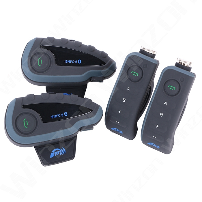 V8 Bluetooth Headset Walkie Talkie Helmet Headset FM NFC Multi BT Interphone Remote Controller Handle Bar Headphone for 5 Riders<br><br>Aliexpress