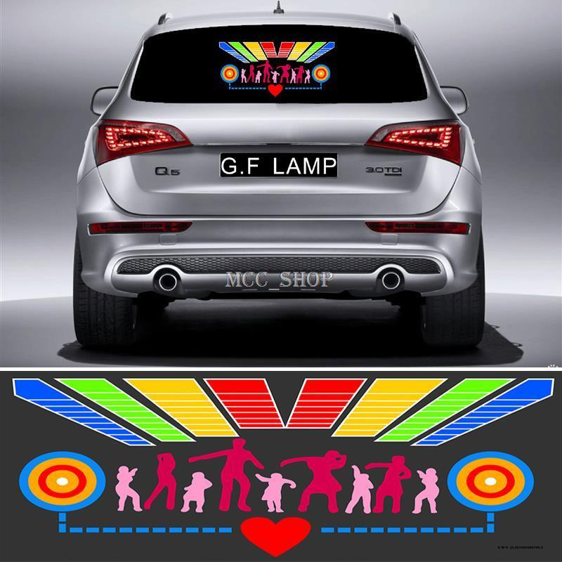 50*25CM Car Sticker Music Rhythm Nine Combinations LED Flash Light Lamp Voice activated Equalizer<br>