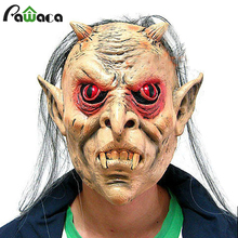 Halloween Horror Scary Man Male Female Latex Masks Adult Realistic Grimace Ghost Bleeding Full Face Head Mask For Costume Party(China)