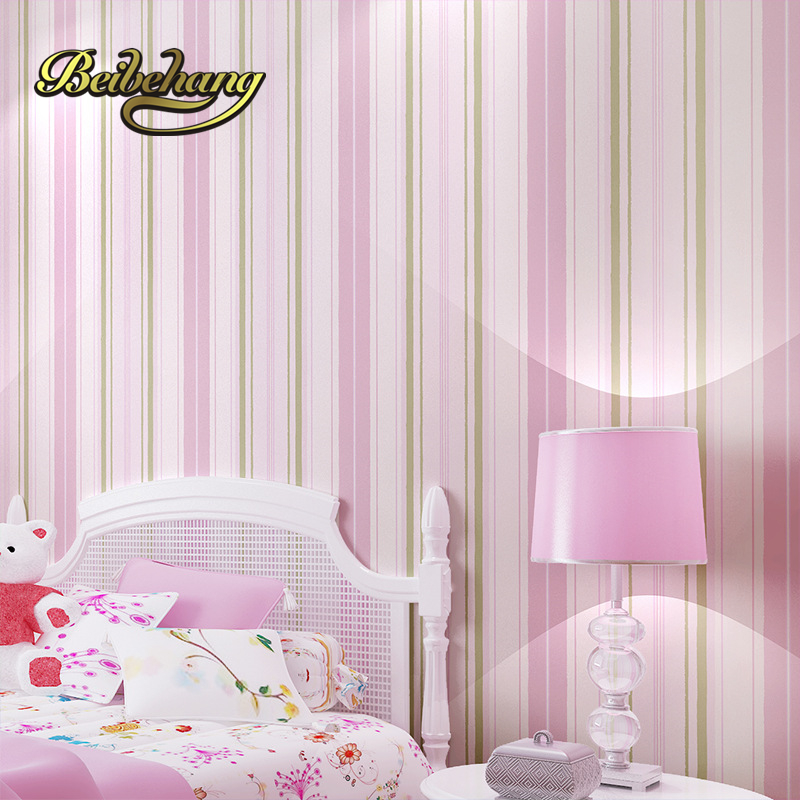 beibehang Mediterranean striped nonwovens environmental protection children room wallpaper warm boys girl room bedroom <br>