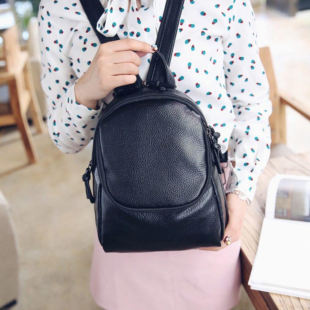 2016 Fashion Backpack School Bags For Teenagers Boys girls Korean style Black students Travel Shoulder Top Handle Bag bolsa<br><br>Aliexpress