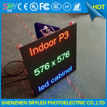 P3 indoor led display screen rental hanging cabinet advertising super slim rgb video wall(China)