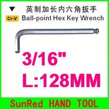 "BESTIR taiwan made chromium-vanadium steel Long Arm star 3/16"" inches allen wrench,NO.20205  freeshipping wholesale"